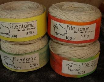 ecru brute wool ball