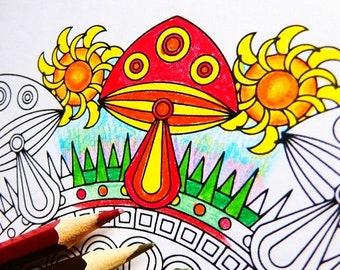 Flower Mandalas Adult Coloring Book Printable Mandala
