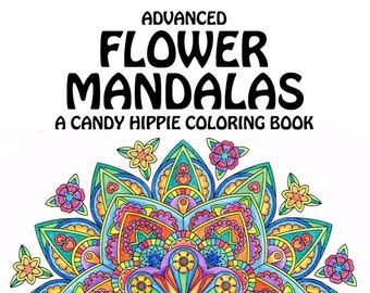 Advanced Flower Mandalas Adult Coloring Book