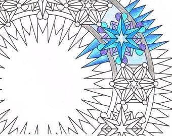 Kerst Mandala Kleurplaat Laat Het Sneeuwpoppen Afdrukbare Etsy