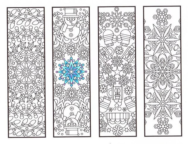 Christmas Coloring Bookmarks Winter-Mandalas Färbung für | Etsy