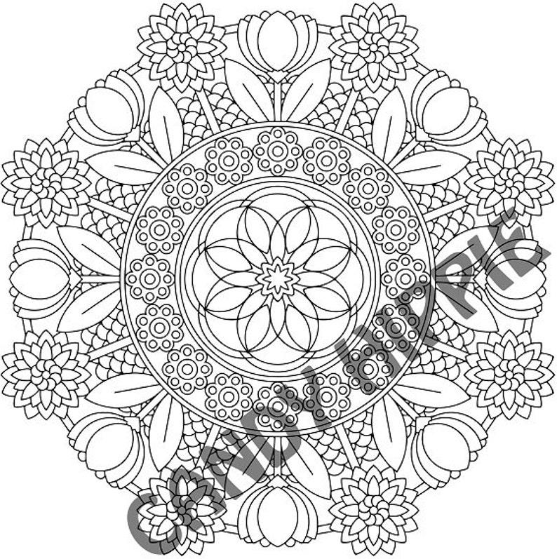 Kleurplaten Mandala Lente.Mandala Kleurplaat Kan Flowers Afdrukbare Lente Kleurplaat Pagina Volwassen Kleurplaten Tulip Flowerbed Lente