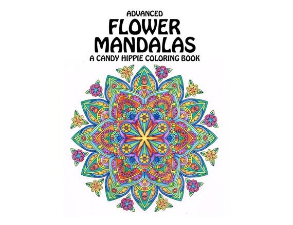 Advanced Flower Mandalas Adult Coloring Book Printable