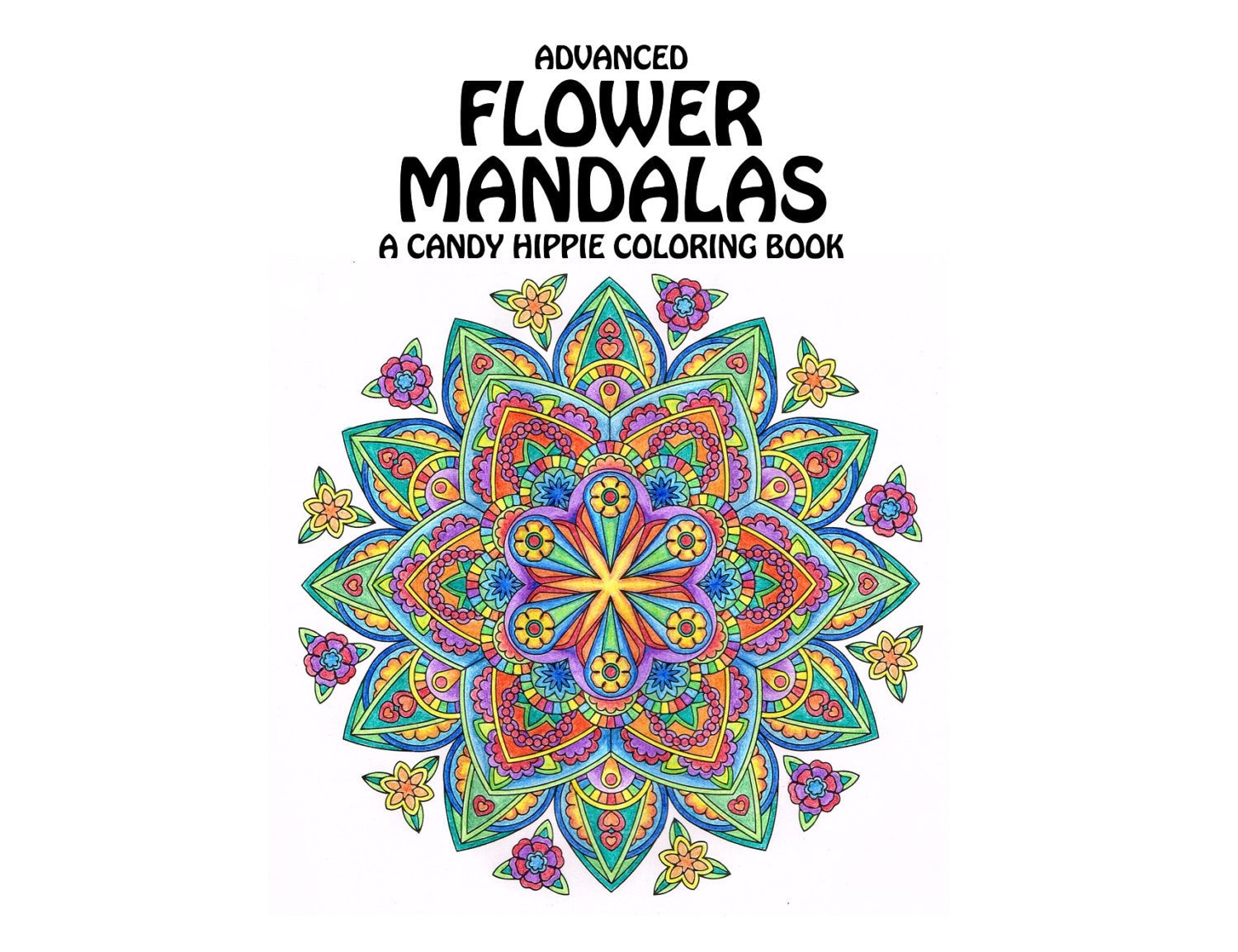 Advanced Flower Mandalas Adult Coloring Book Printable Mindfulness Coloring Book 12 Adult Coloring Pages Get Well Soon Gift