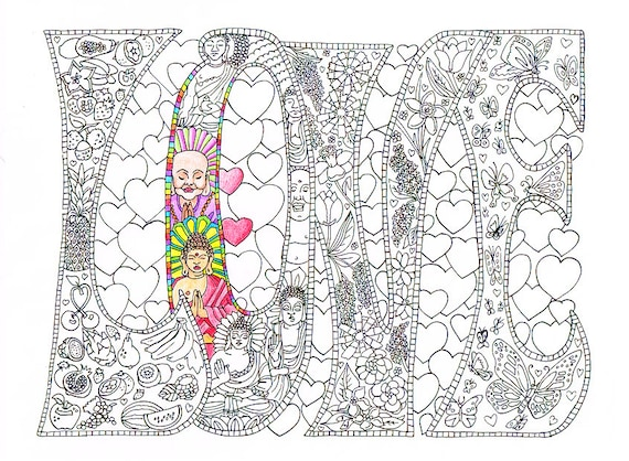 Kleurplaten Voor Volwassenen Love.Volwassen Kleurplaat Love Afdrukbare Lijnen Te Printen En Te Kleuren