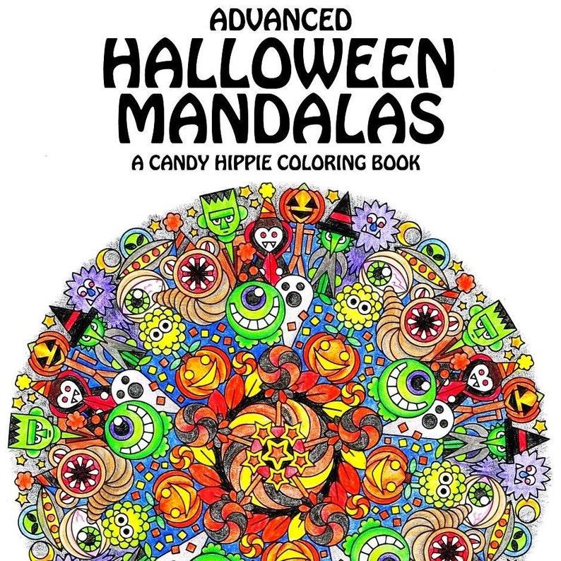 Advanced Halloween Mandalas Printable Coloring Book | Etsy