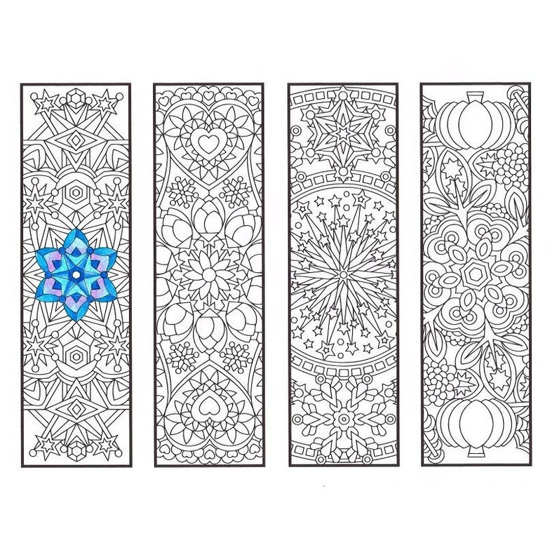 Coloring Bookmarks Cool Weather Mandalas coloring page for | Etsy