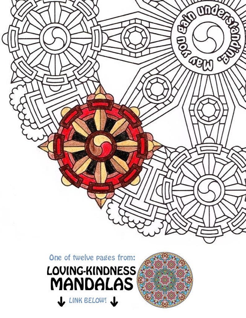 May You Gain Understanding buddhist coloring page printable