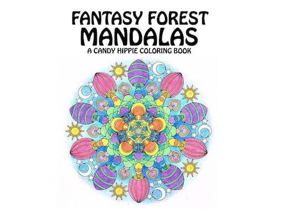 Adult Coloring Book Fantasy Forest Mandalas Printable