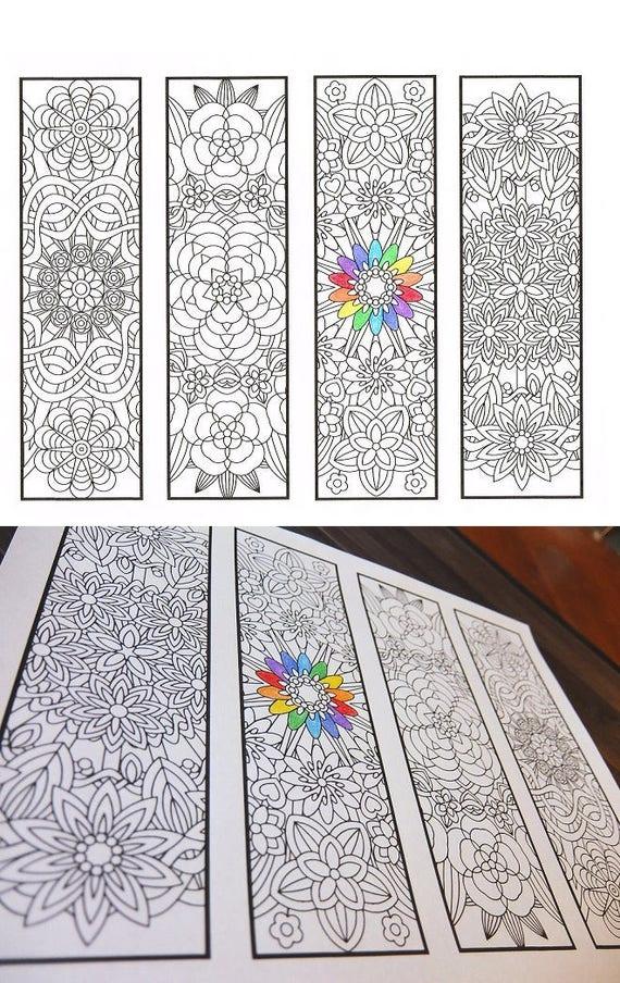 Marcadores para colorear Mandalas de flores Página 1 para | Etsy