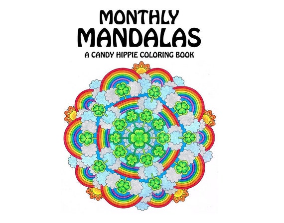 Monatliche Mandalas Malbuch druckbare Erwachsene Malvorlagen