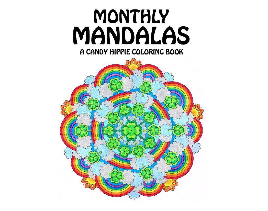 Monthly Mandalas Coloring Book printable adult coloring | Etsy