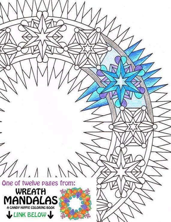 Guirnalda de invierno para Imprimir página para colorear   Etsy