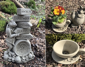 Alice's Adventures Combination , The March Hare , Dormouse and X2 T/Cup Planters