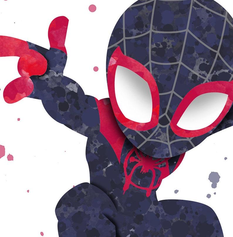 f61a88ef Miles Morales Spider-Man Fan Art Watercolor Print poster | Etsy