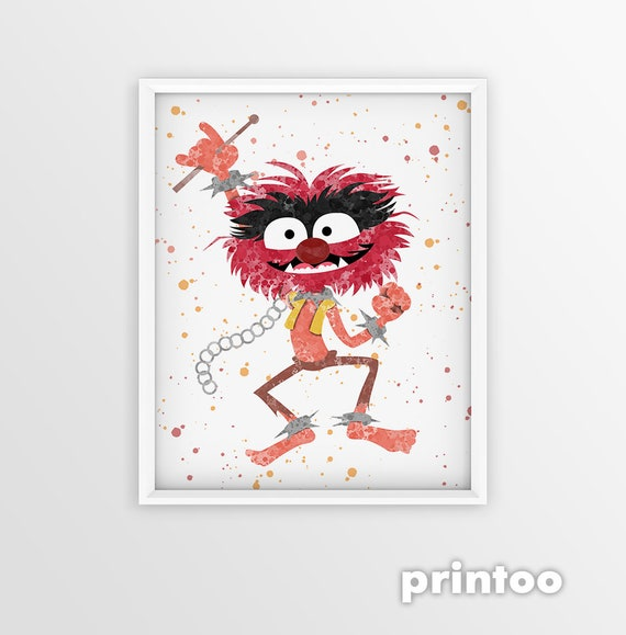 Muppets Animal Free Printable: The Muppets Animal Of The Electric Mayhem Poster Wall