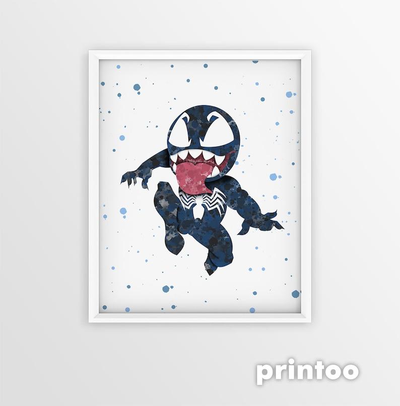 c61d98c0 Baby Venom Print Venom Movie Poster Marvel Comics Spiderman | Etsy