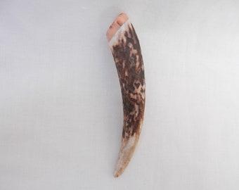 antler gift Kilt Pin in Scottish Red Deer Stag Antler and Surinese Snakewood horn gift Scottish gift