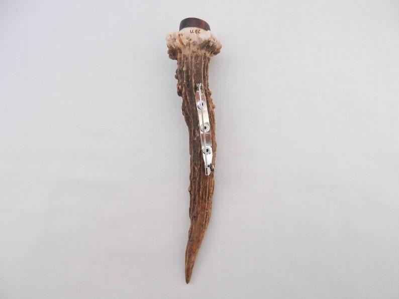 Scottish gift mens gift groom gift wedding gift Kilt Pin in Scottish Roe Deer Buck Antler and Snakewood kilt gift best man gift
