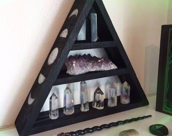 Side moon phase shelf