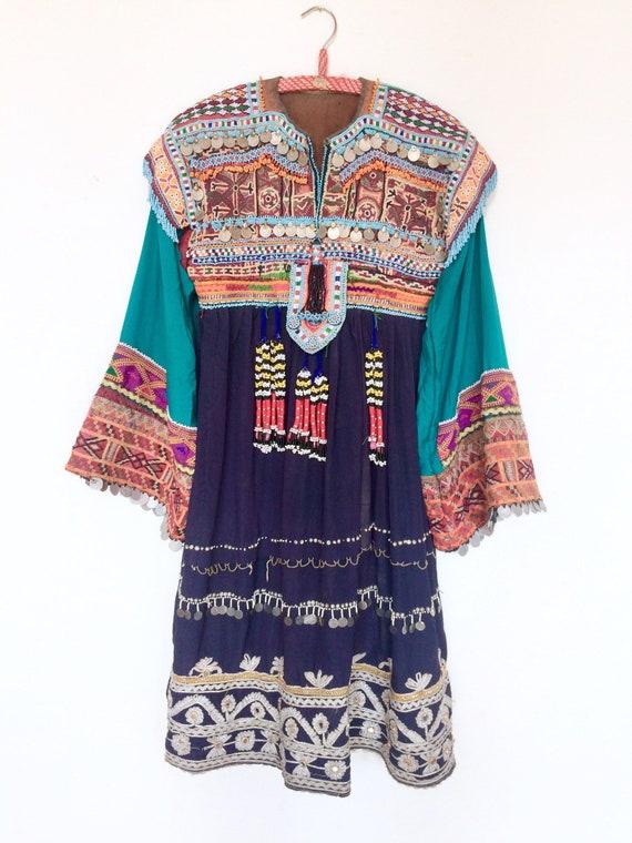 Kuchi tribal gypsy Dress Vintage antique / Afghani