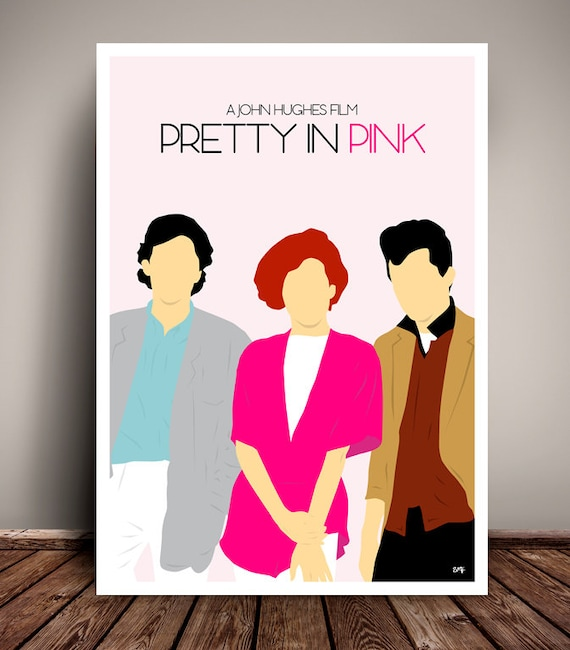 Pretty In Pink // John Hughes // Minimalist Movie Poster // Unique Art Print