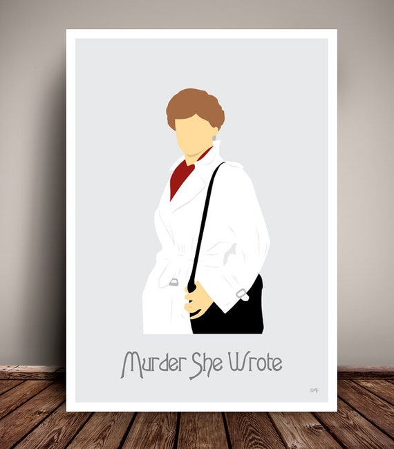 Murder, She Wrote // Jessica Fletcher // Minimalist TV Poster // Unique Art Print // Available in 5 Sizes