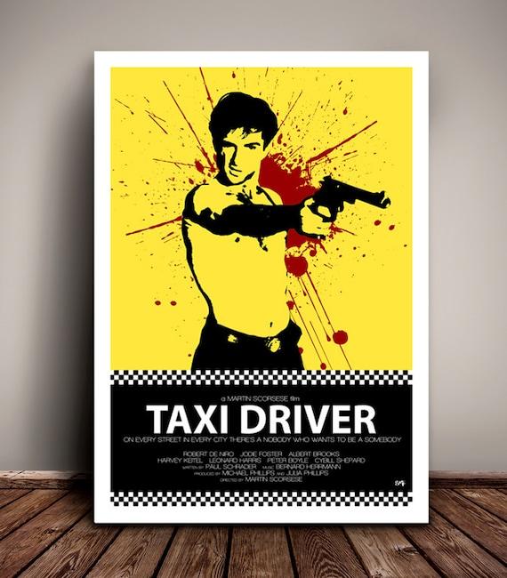 Taxi Driver // Robert De Niro // Martin Scorsese // Minimalist Movie Poster // Unique Art Print