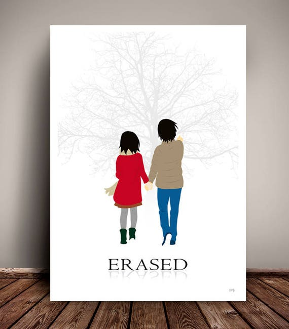 Erased // Boku dake ga Inai Machi // Netflix // Minimalist Movie Poster // Unique Art Print