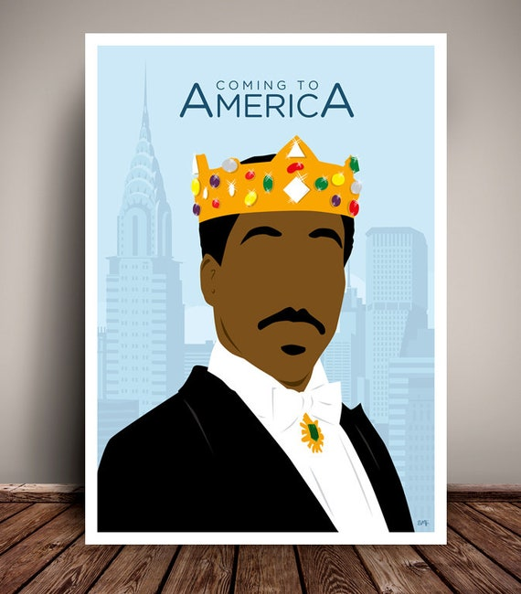 Coming To America // Eddie Murphy // Minimalist Movie Poster // Unique Art Print