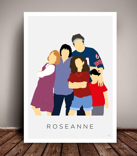 Roseanne // Minimalist TV Poster // 1980s - 1990s // Unique Art Print