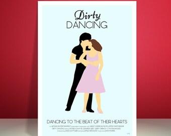 Dirty Dancing // Patrick Swayze // Minimalist Movie Poster // Unique Art Print