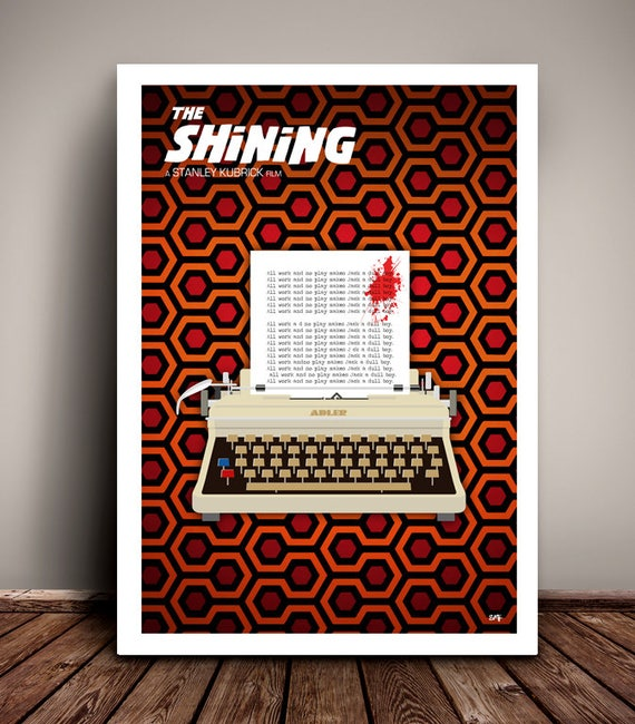 The Shining // Stanley Kubrick // Jack Nicholson // Minimalist  // Unique Art Print