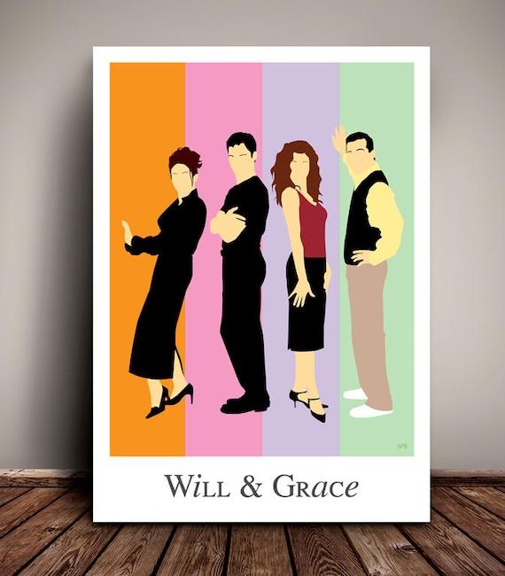 Will & Grace // Minimalist TV Poster // Unique Art Print