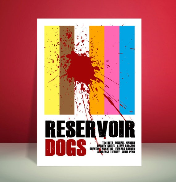 Reservoir Dogs // Quentin Tarantino // Movie Poster // Unique Art Print