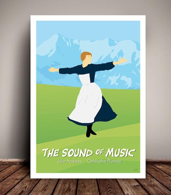 The Sound Of Music // Minimalist Movie / Musical Poster // Unique Art Print