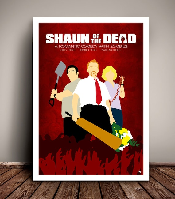 Shaun Of The Dead // Simon Pegg // Minimalist Movie Poster // Unique Art Print