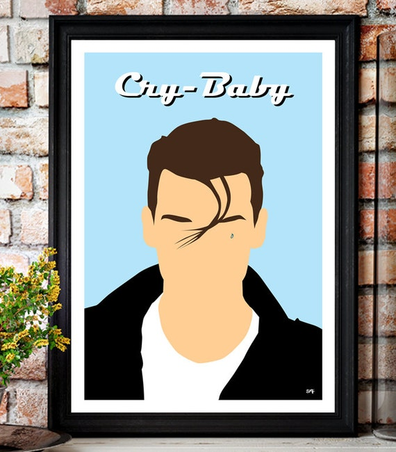 Cry Baby // Johnny Depp // Minimalist Movie Poster // Unique Art Print
