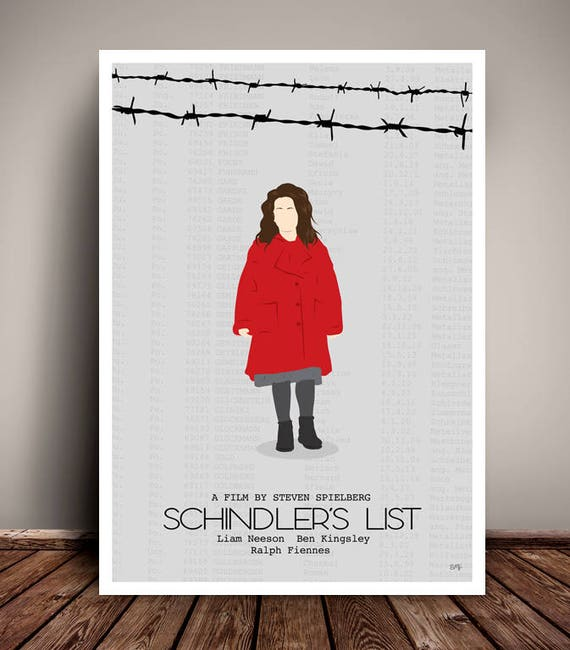 Schindler's List // Steven Spielberg // Minimalist Movie Poster // Unique Art Print