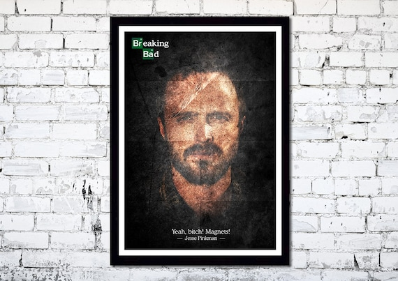 Breaking Bad // Jesse Pinkman // Aaron Paul // TV Poster // Unique Art Print