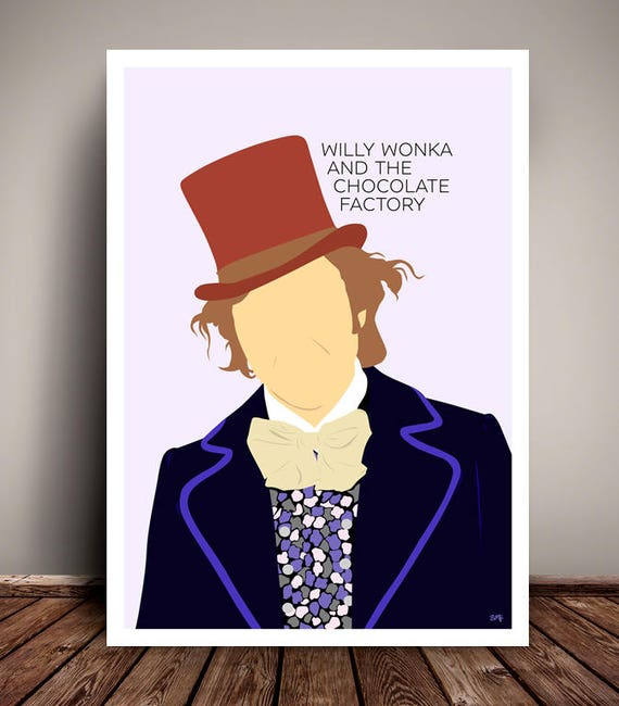 Willy Wonka & The Chocolate Factory // Gene Wilder // Minimalist Movie Poster // Unique Art Print