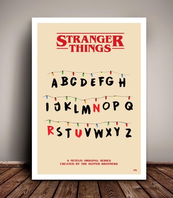 Stranger Things // 'Run' // Minimalist TV Poster // Unique Art Print