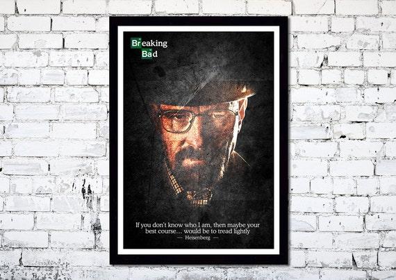 Breaking Bad // Walter White // Heisenberg // Unique Art Print