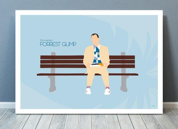Forrest Gump // Tom Hanks // Minimalist Movie Poster // Unique Art Print