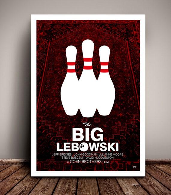 The Big Lebowski // Jeff Bridges // John Goodman // Coen Brothers // Minimalist Movie Poster // Unique Art Print