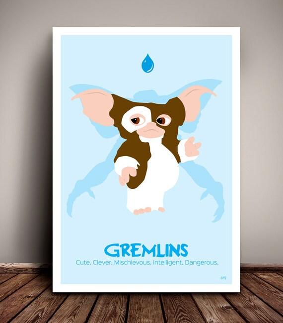 Gremlins // Mogwai // Gizmo // Minimalist Movie Poster // Unique Art Print