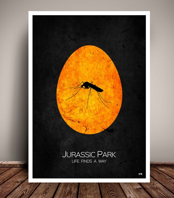 Jurassic Park // Minimalist Movie Poster // Unique Art Print // Home Decor