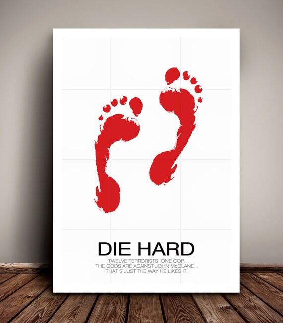 Die Hard // Bruce Willis // Minimalist Movie Poster // Unique Art Print