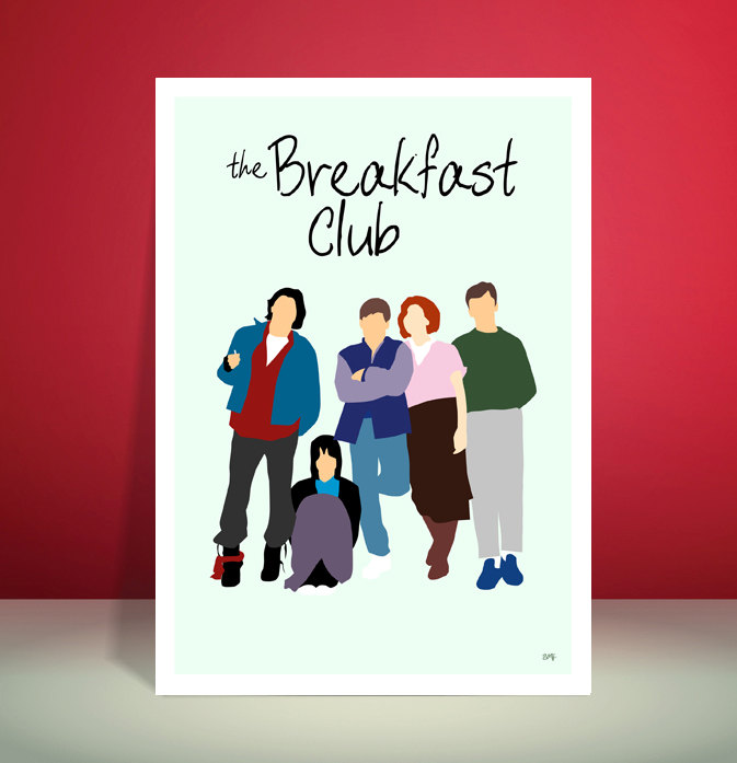 The Breakfast Club // John Hughes // Minimalist Movie Poster // Unique Art Print
