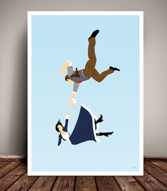 BioShock Infinite // Elizabeth // Booker // Minimalist Poster // Unique Art Print